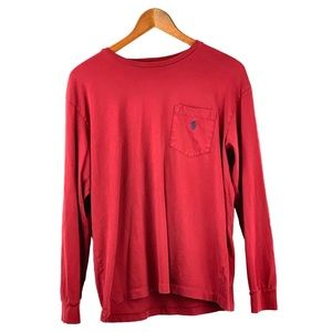 Long Sleeve Red Polo Shirt